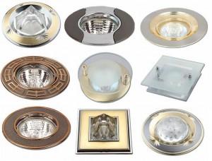 Светильники точечные неповоротные Delux (литьё)