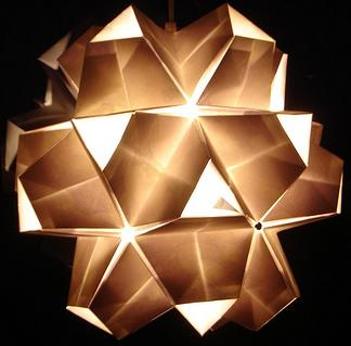 Оригинальные светильники... Оригами